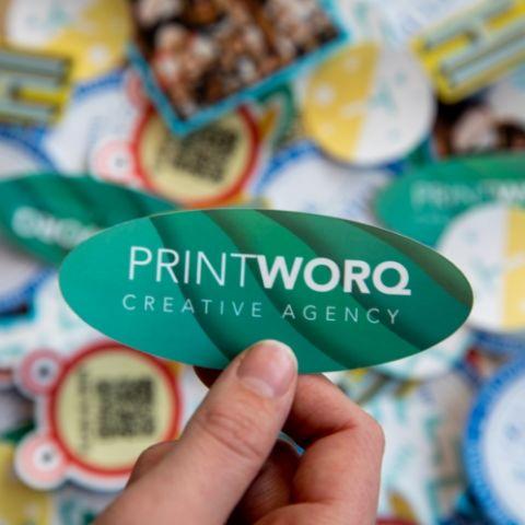 Bestel losse kleine stickers met haarscherpe print bij Probo